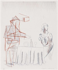 figures with still life (from blue guitar (hrsg) by david hockney