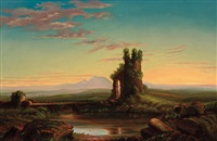 landscape with ruin by robert scott duncanson