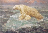 polar bears by john trivett nettleship