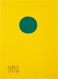 chrome yellow - green disc by adolph gottlieb