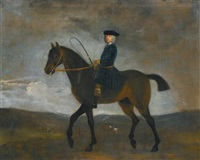 portrait of a gentleman on horseback by peter tillemans