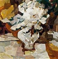 weiße blumen by franz kaindl