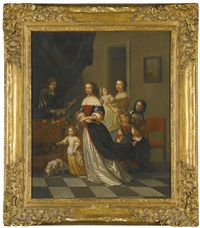 portrait of a family by eglon hendrik van der neer