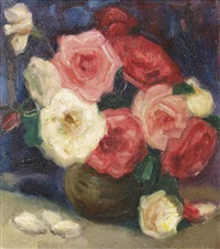 red and white roses by charles sayers