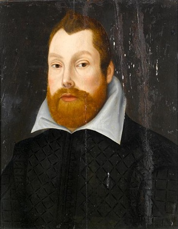 portrait of a gentleman bust length in a black coat by anglo dutch school 17