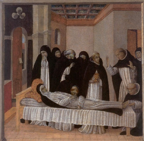 the death of saint catherine of siena by giovanni di paolo