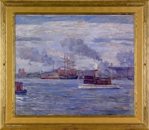 industrial river scene by henry mccarter