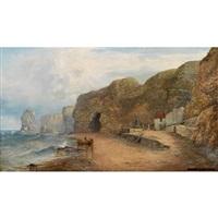 marsden bay beach, south shields, england by george blackie sticks