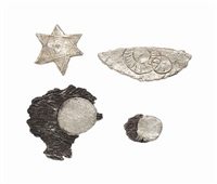 brooches (4 works) by kiki smith