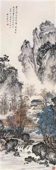 山水 (dew in cold mountain) by qi dakui