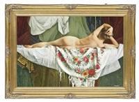 reclining nude by nikolai leykin