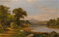 river landscape by jasper francis cropsey