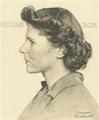 portrait of helene bok by norman rockwell