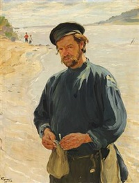 on the bank of the oka river by ivan semionovich kulikov
