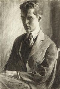 portrait of felix derbyshire schelling by daniel garber