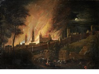 a fire inside the walls of a city by daniel van heil