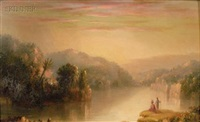indians surveying water by frederic edwin church
