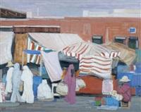 coin de marché, maroc by ginette rapp