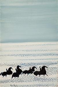 cavaliers dans les flots by andré brasilier