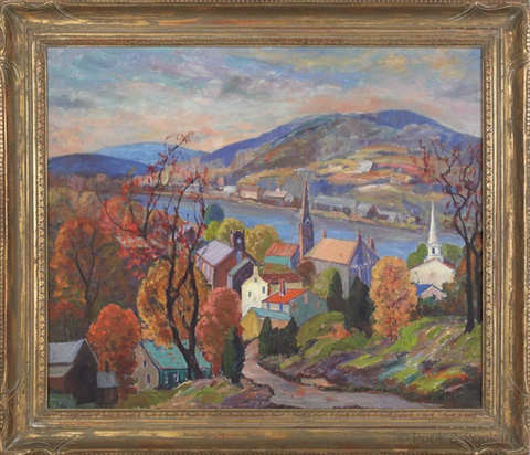 autumn from music circus hill, lambertville by fern isabel coppedge