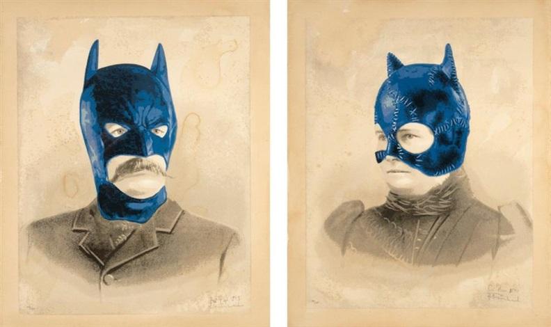 bat papi (+ cat nana; 2 works) by mr. brainwash