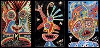 ensemble de compositions (3 works in 1 frame) by kurt joseph haas