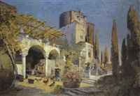 hof in parenzo (istrien), porec by george drah