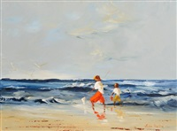fishing by the shore by thelma mansfield