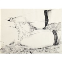 reclining female study by dennis eugene norman burton