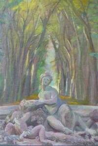 fontaine dans le parc de versailles by léonid pantchenko