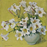 lilies in a vase by jane peterson