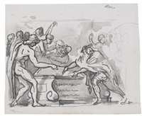alexander ordering the books of homer to be preserved by jacques-louis david