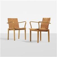 armchairs model 21, pair by alvar aalto
