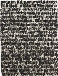 study for white series by glenn ligon