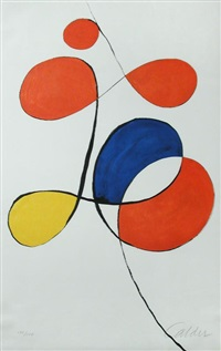 red, blue, yellow by alexander calder