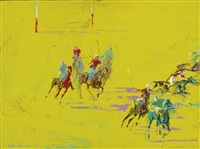 the polo match by leroy neiman