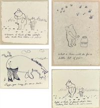 untitled - what a bear will do... (+3 others; 4 works) by karen finley