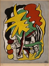 composition au domino by guy spitzer by fernand léger