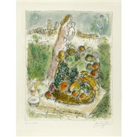 la grande corbeille/the large fruits basket by marc chagall