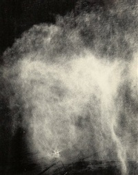 water in wind, model (fogiet, nozzles, motors, pumps, electricity, horses, water, wind, open area) by hans haacke