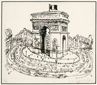 arc de triomphe by brett whiteley