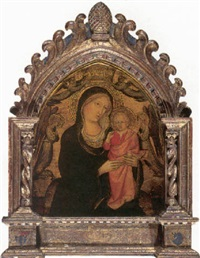 madonna of humility (the madonna and child surrounded by angels) by agnolo di taddeo gaddi