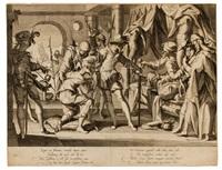il conte guglielmo iii di olanda ordina la decapitazione del suo ufficiale giudiziario by willem isaaksz swanenburgh the elder