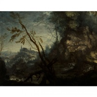 paysage rocheux by roelandt savery