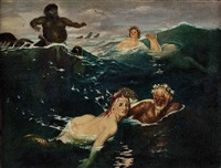 im spiel der wellen by arnold böcklin the elder