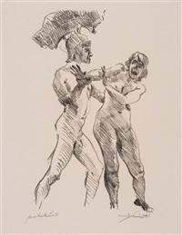 frau und krieger (s.158) by lovis corinth