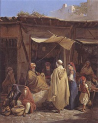scène de marché by william moritz