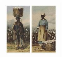 cotton pickers (2 works) by william aiken walker