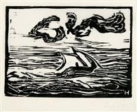 segelboot by erich heckel