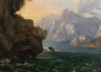 a rocky inlet on the amalfi coast by gregorio fidanza